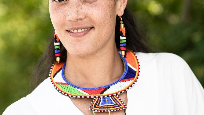 Halsreifen  mit Massai-Muster