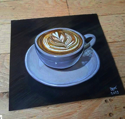3D Drawing Cup of Coffee 2019 Color Penc