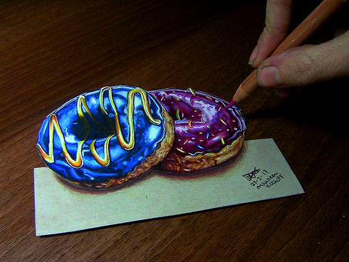 3D Drawing Donuts Color Pencil 2017.jpg