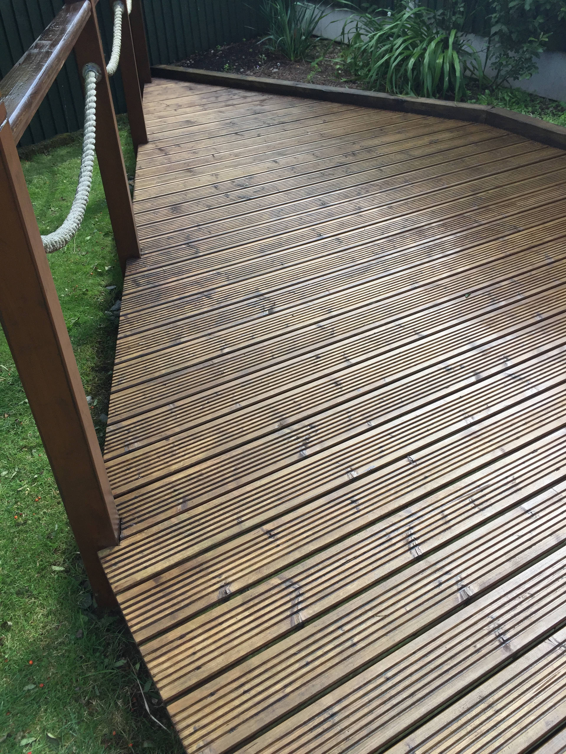 Decking After Cleaning and Staining