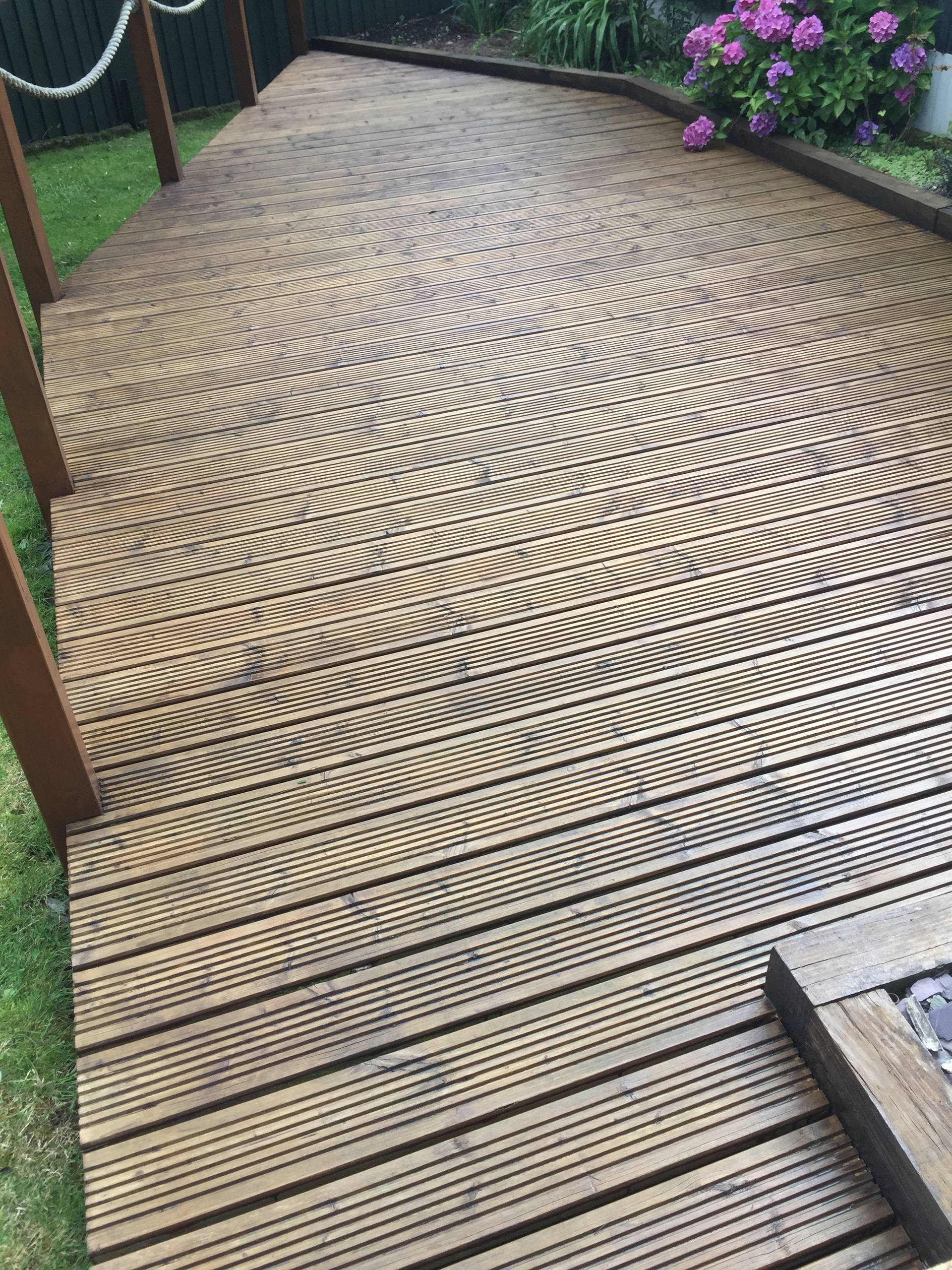Decking After Cleaning