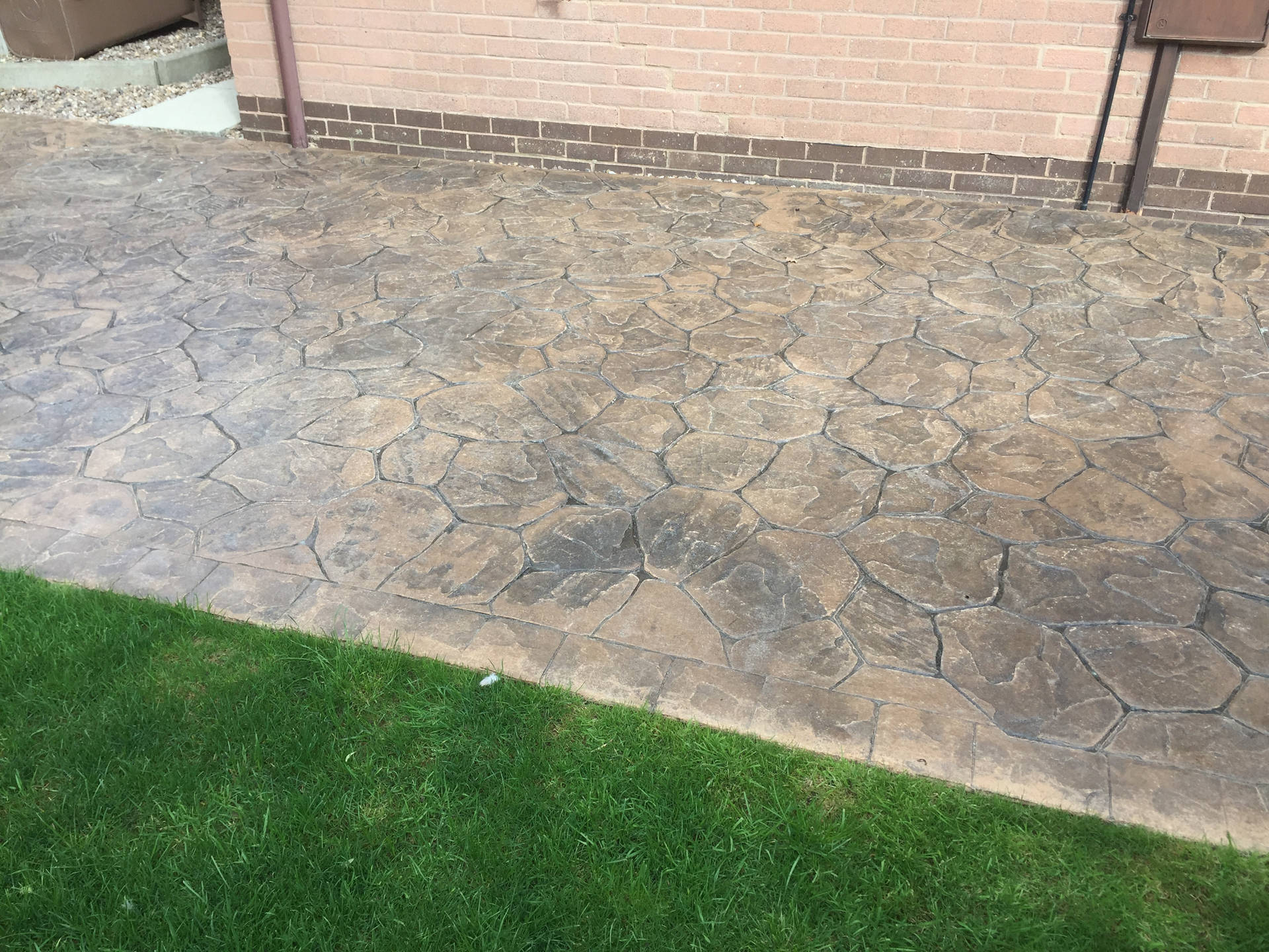 Imprinted Concrete Before Cleaning