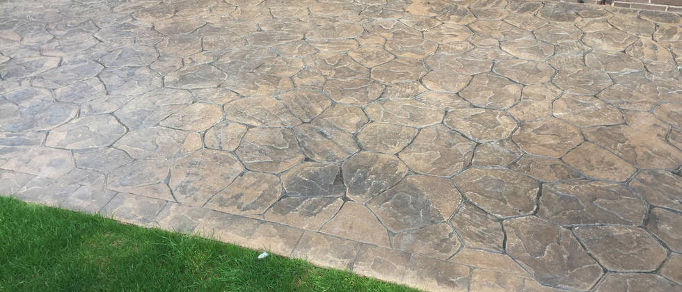 Imprinted Concrete before clean