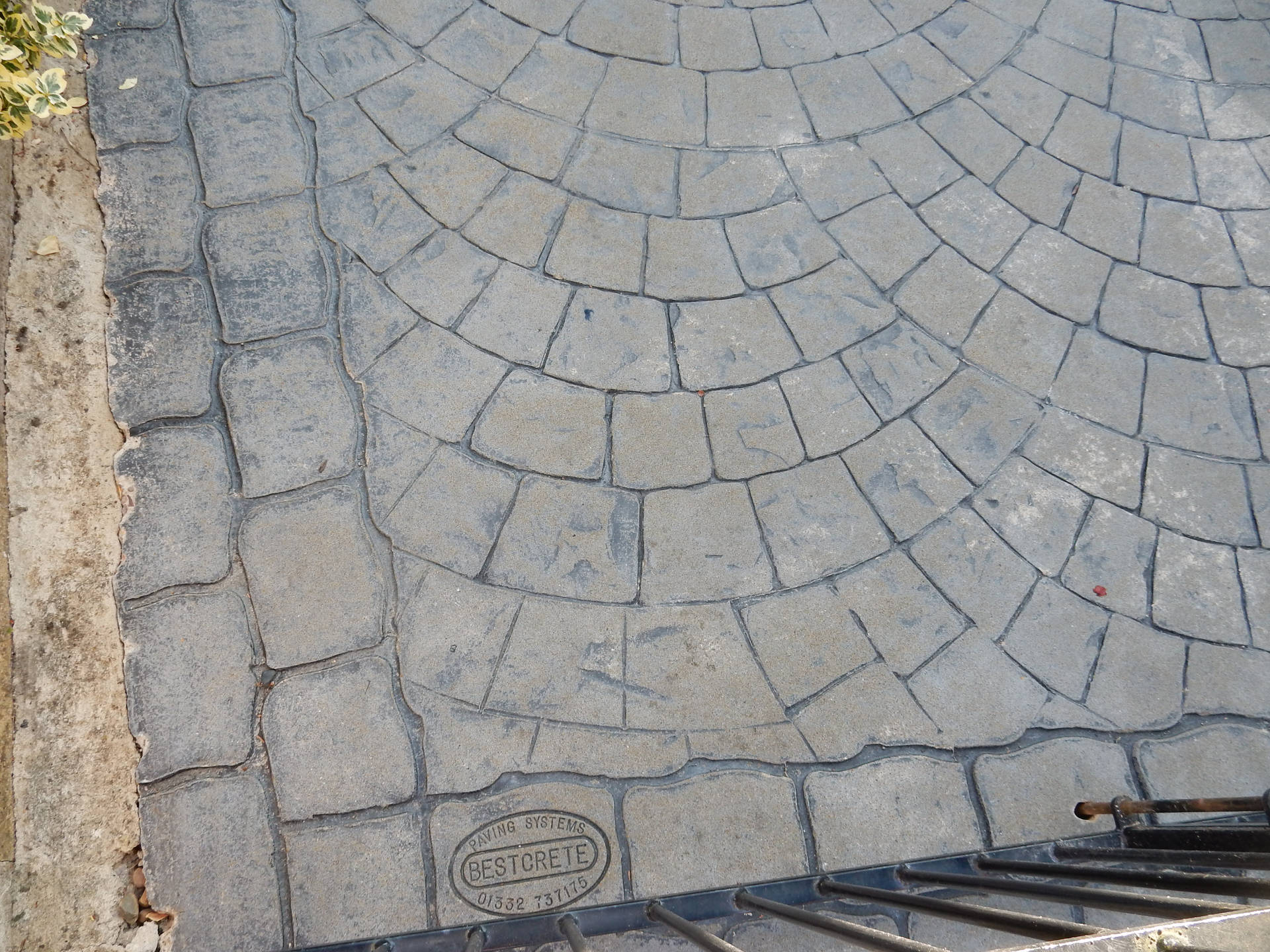 Imprinted Concrete After Cleaning