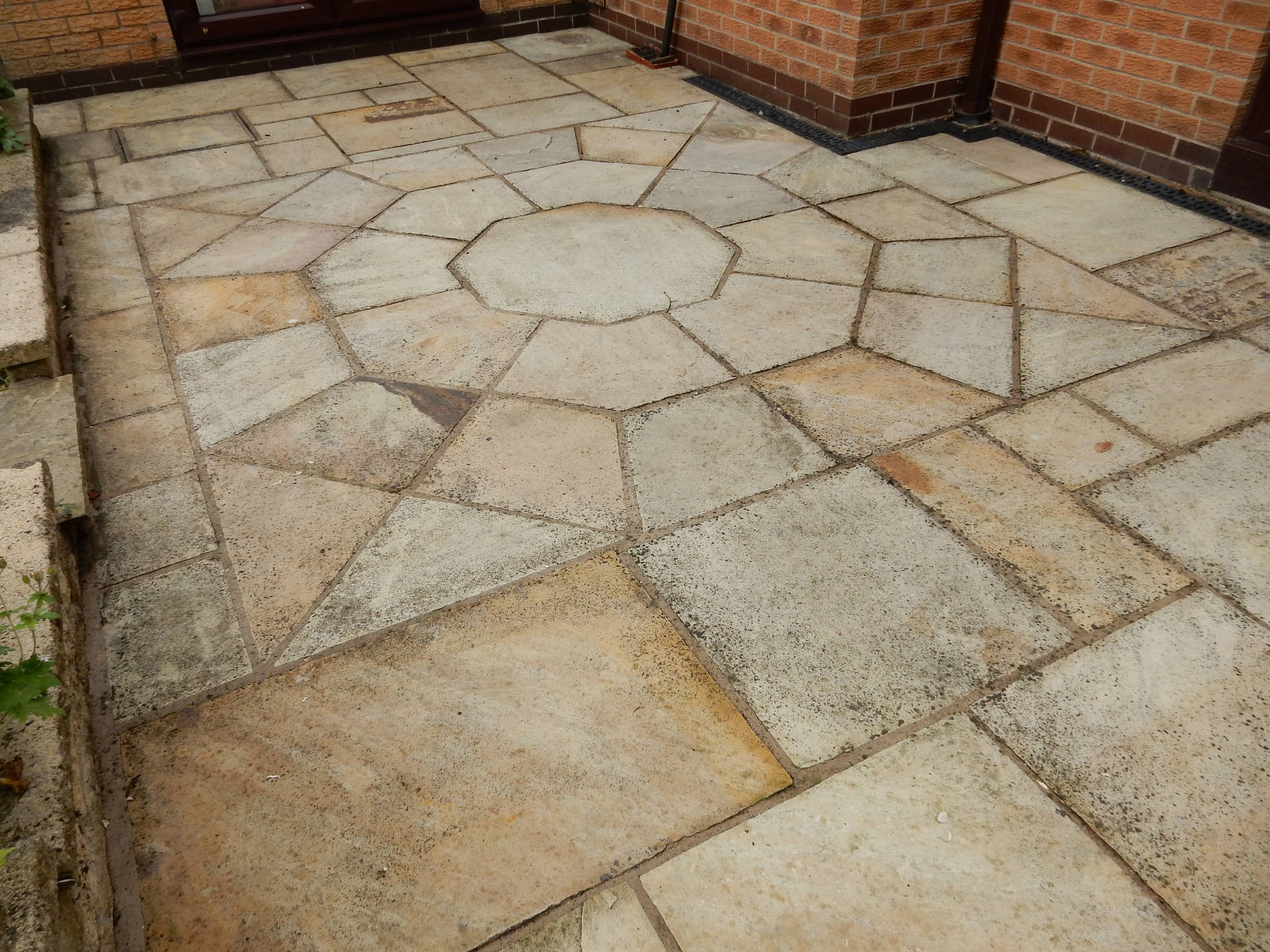 Indian Sandstone Before Cleaning