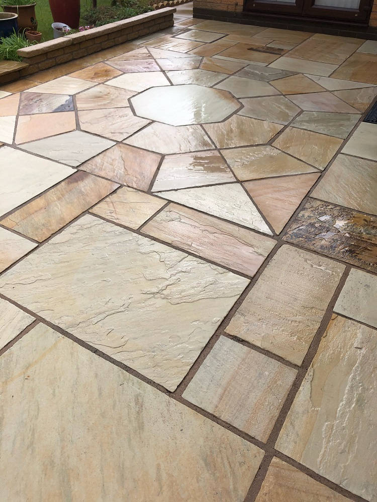 Indian Sandstone After Cleaning