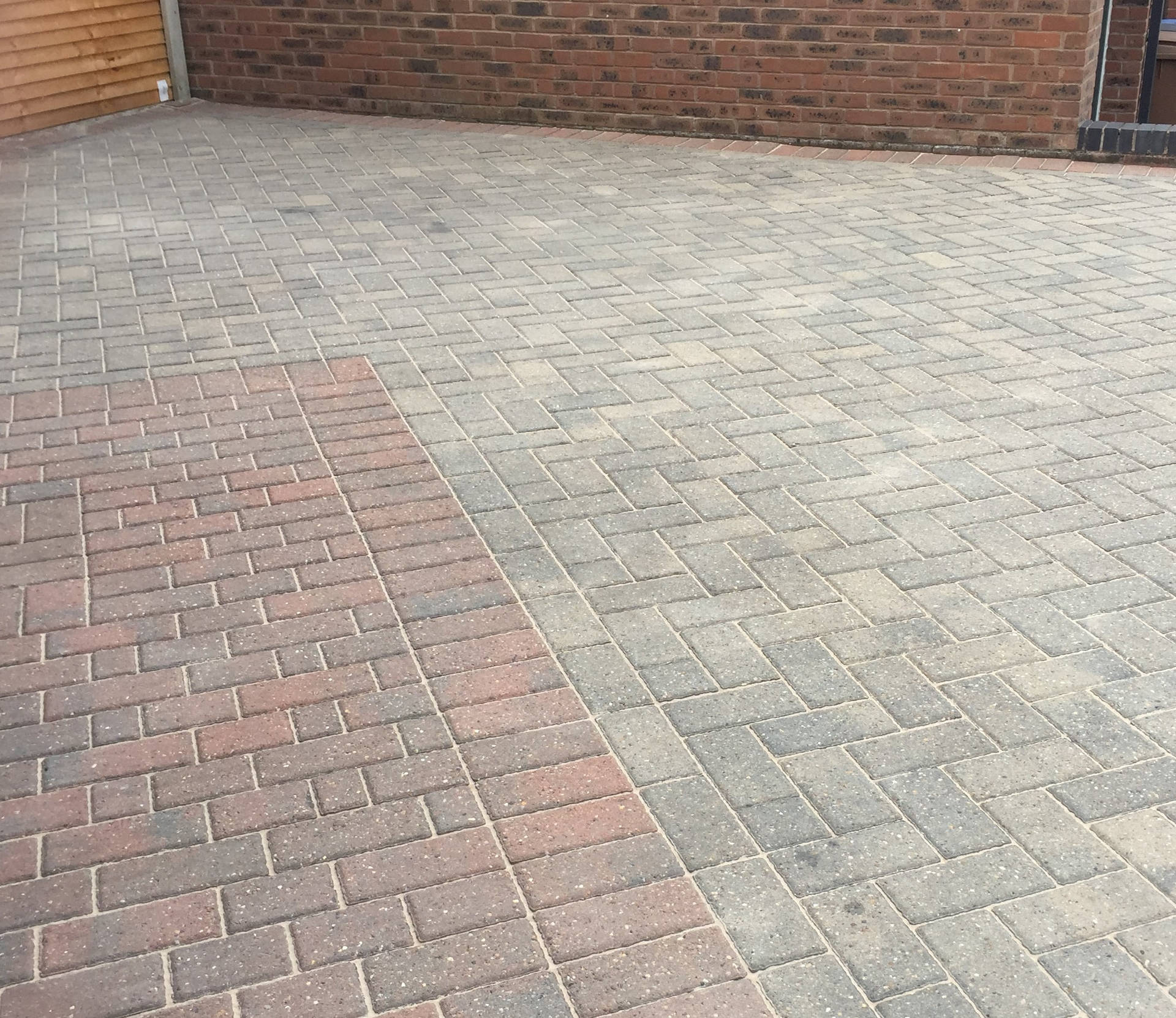 Block Paved Driveway After Cleaning