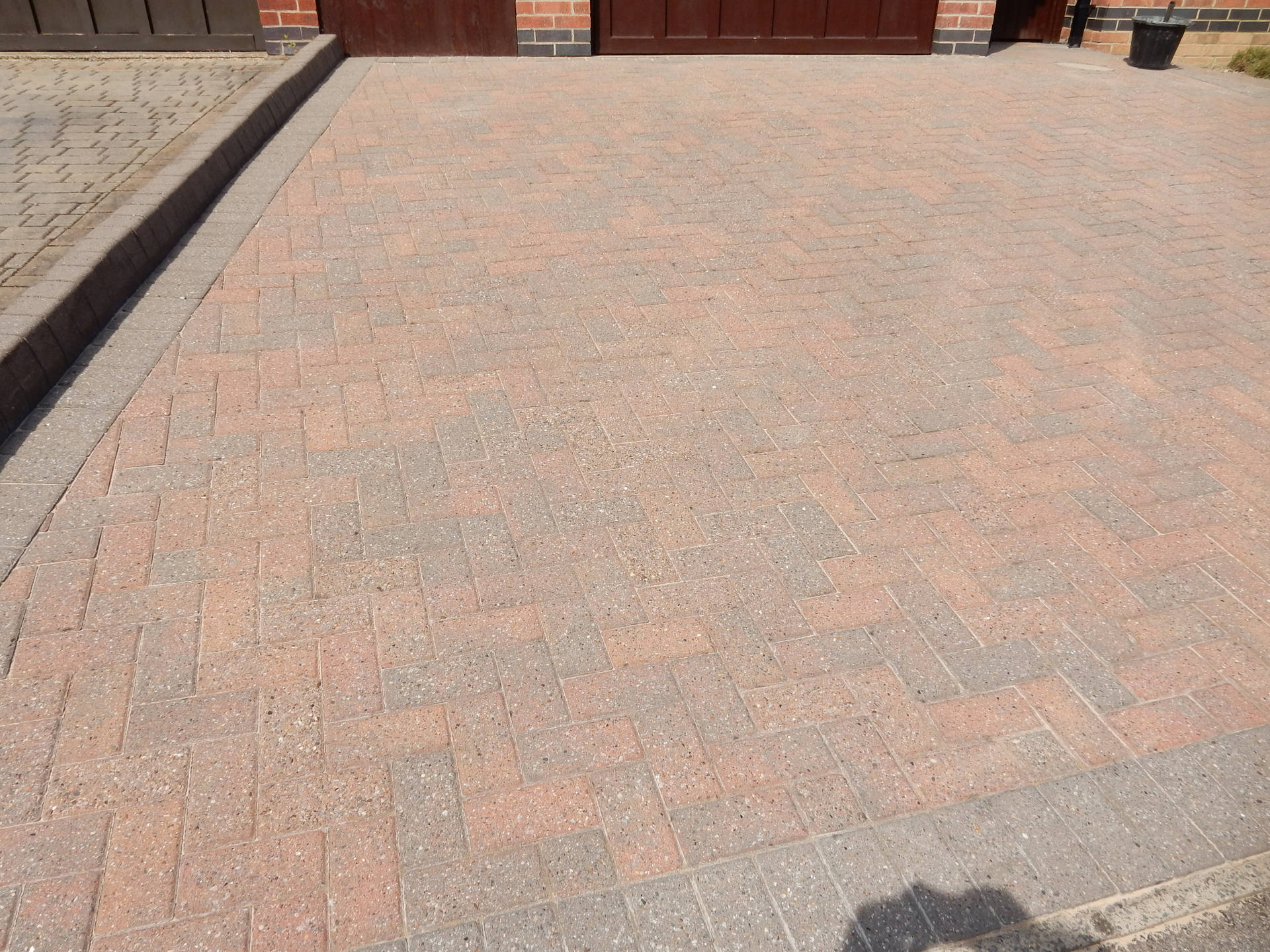 Block Paving Drive After Cleaning