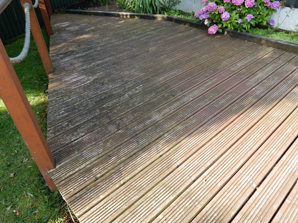 Decking Before Cleaning