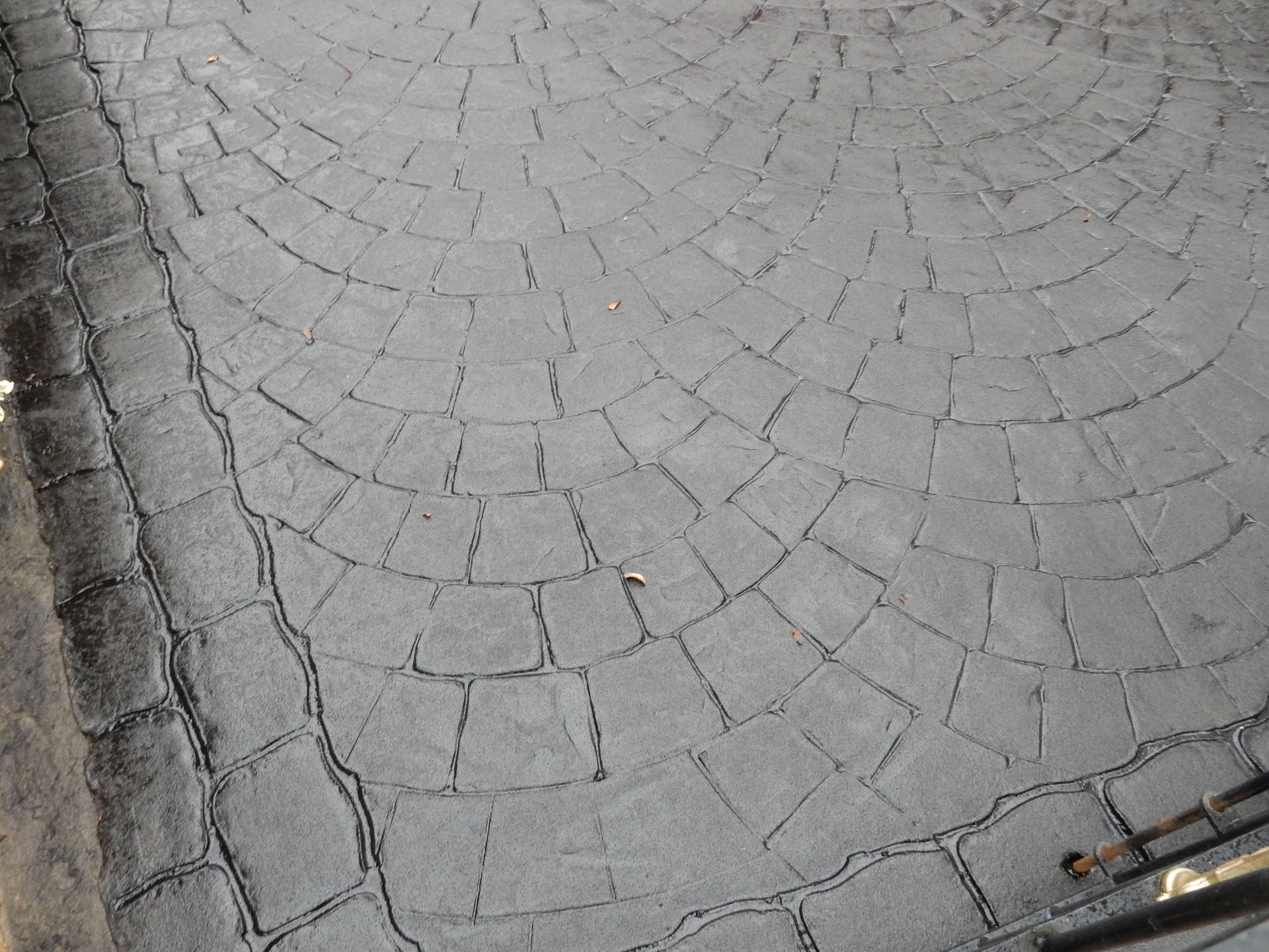 Imprinted Concrete After Re-Tint and Seal