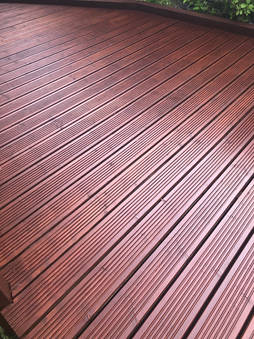 Cleaned and Statined Deck
