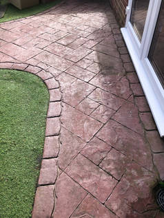 Imprinted Concrete before