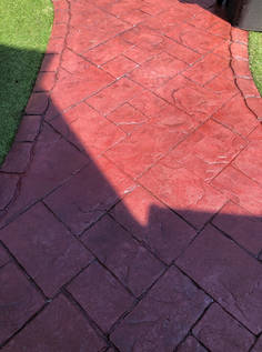 Imprinted Concrete after Cleaning and Sealing