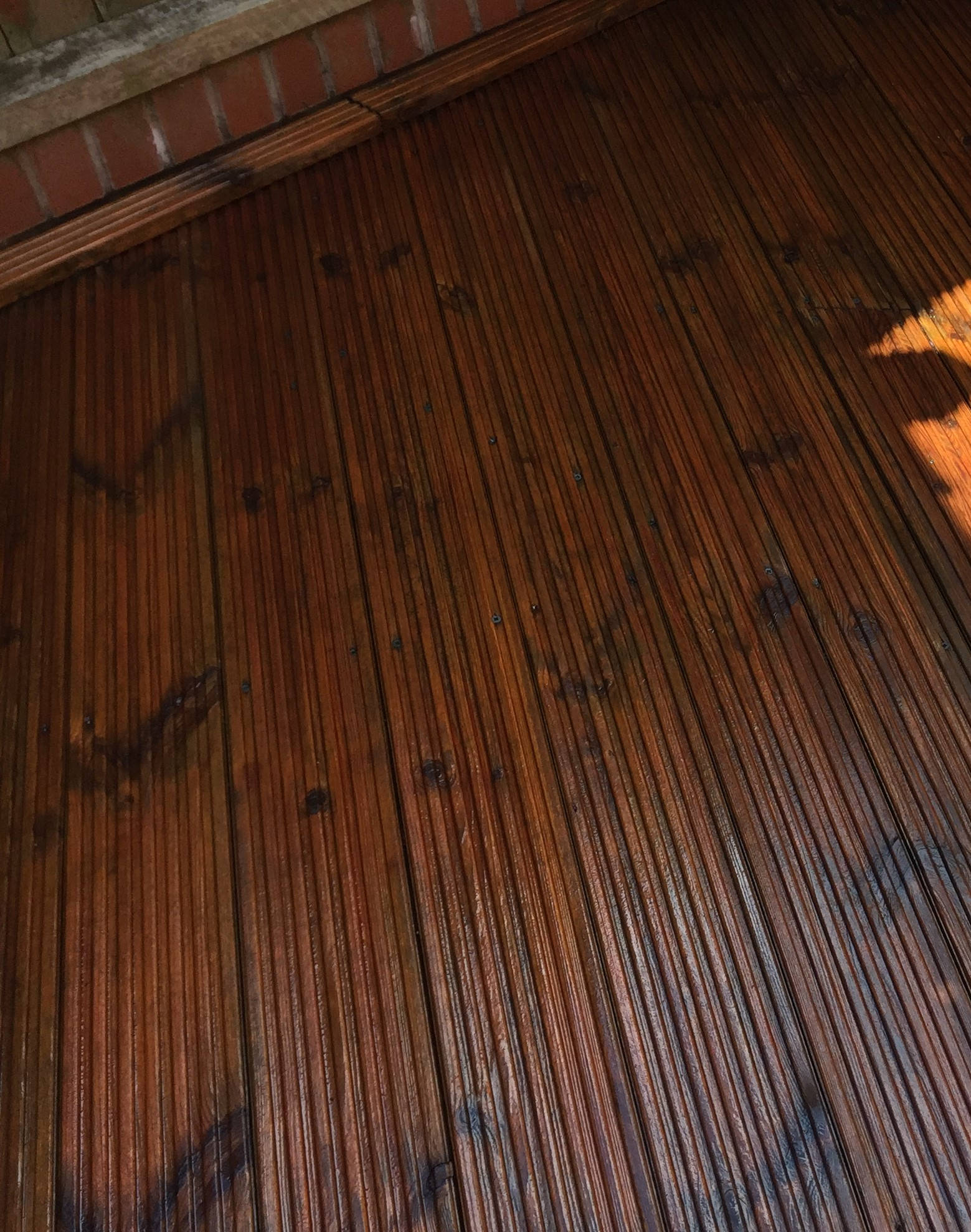 Decking After Cleaning and Oiling