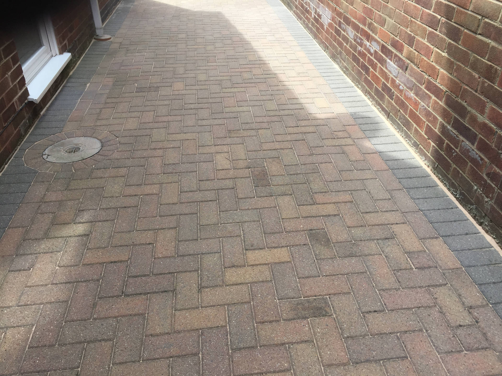 Block Paved Driveway after Cleaning and Sanding