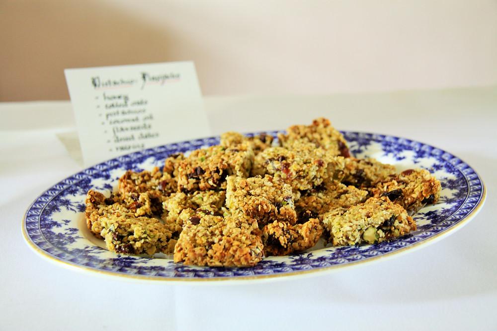 pistachio flapjacks