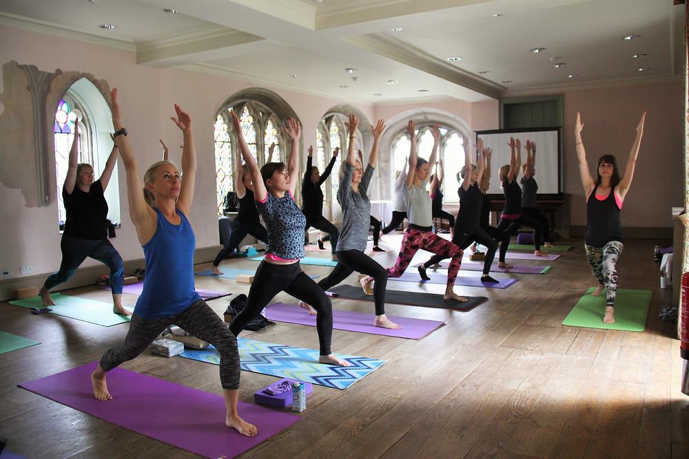 Vinyasa flow yoga class