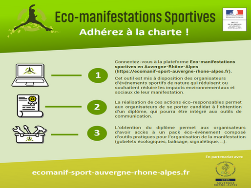 Lancement de la plateforme Eco-manifestations sportives en Auvergne-Rhône-Alpes