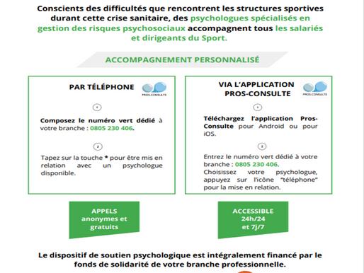 Dispositif de soutien psychologique pour les salariés et dirigeants du sport