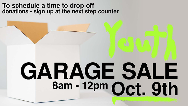 DNA Youth Garage Sale (Donation Sign Up)