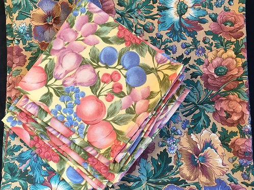 Fruit 'N' Flowers Tablecloth and Napkins