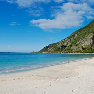 beautiful beach in norway