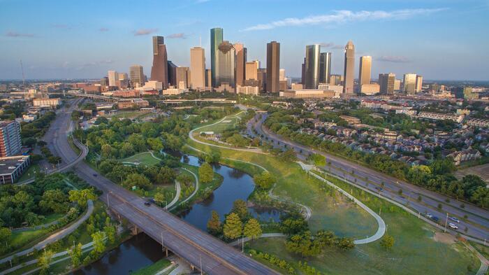 Aerial Photo of Houston, TX