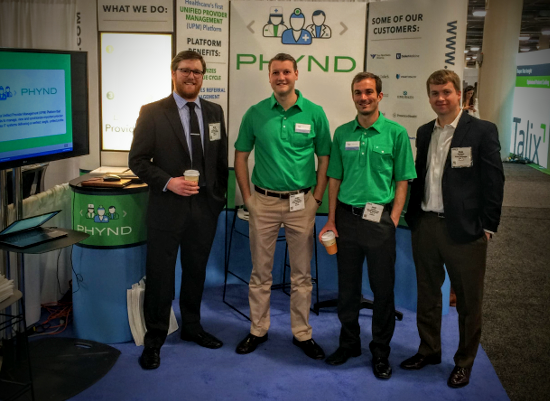 Phynd Team at Las Vegas Conference Booth