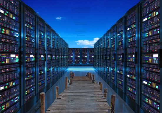 Dock Leading Into Computer Harddrives