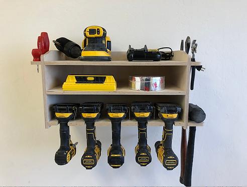 Power Tool Storage Tool Holder / 5 space