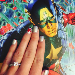 Captain America Winter Soldier Inspired Nails & Engagement Ring via TheVIParolaz