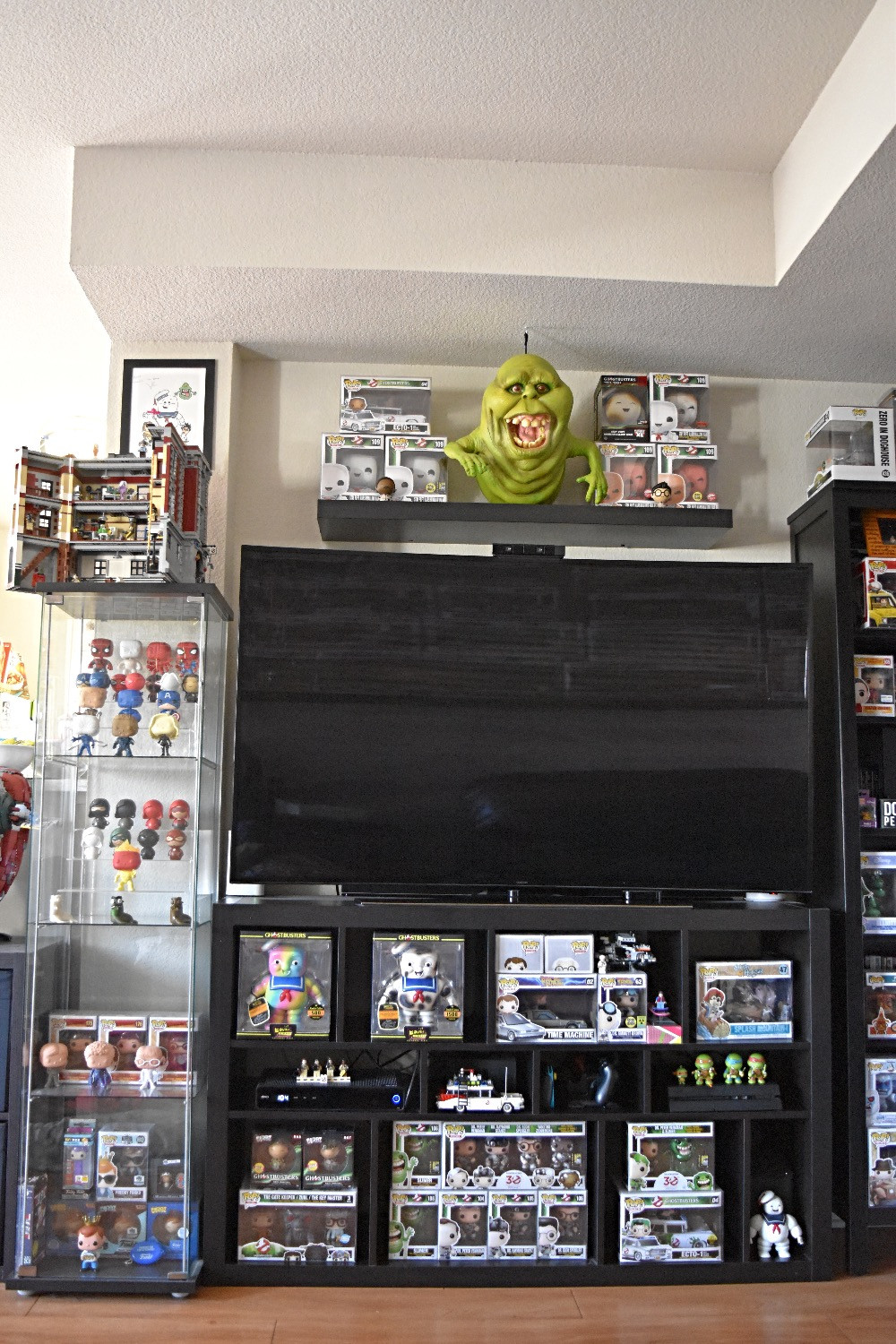 Ghostbuster Funko Collection Organized by Ikea