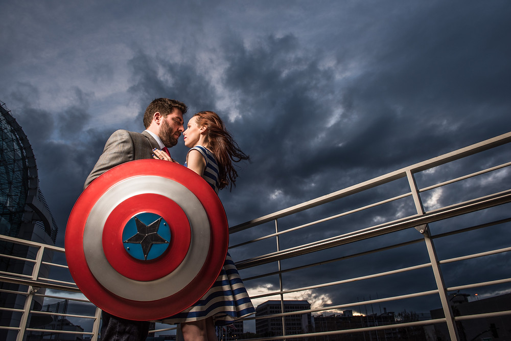 Marvel Captain American Themed Engagement
