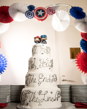 Captain America Themed Wedding Cake by The VIParolaz