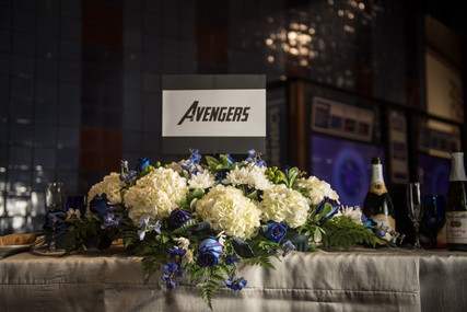 Marvel Comic Table Signs via The VIParolaz Wedding