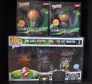 Ghostbusters Funko Dorbz and The Gate Keeper, Zulu, and The Keymaster Funko Pop Three Pack via The VIParolaz