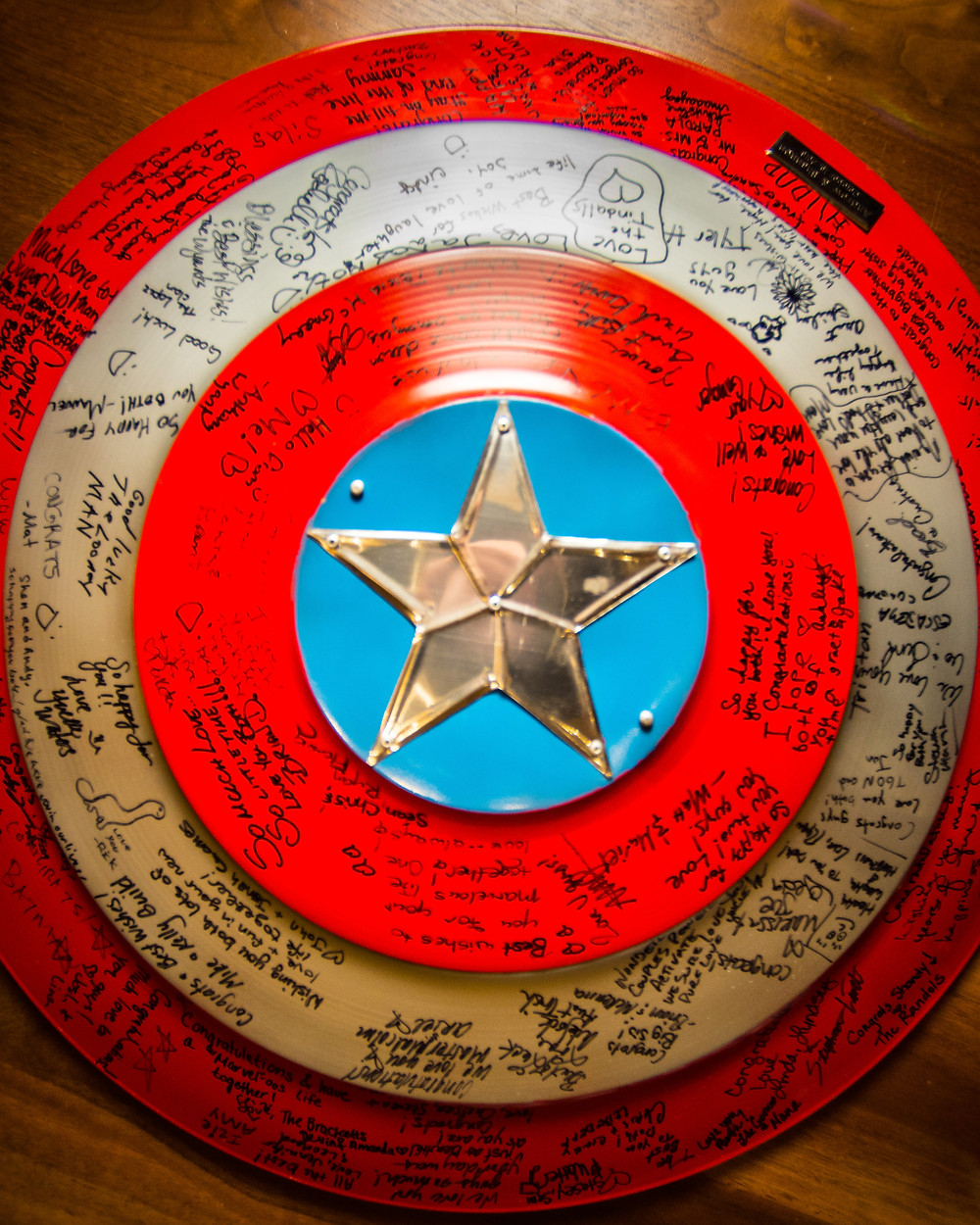 Captain America Shield Wedding Album by The VIParolaz