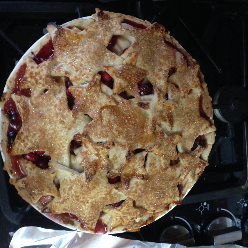 First Ever Gluten Free Pear Cranberry Pie