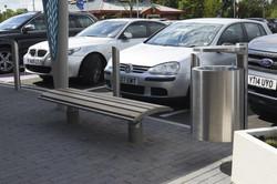 GEO-Litter-Bin-GEO-bench--Rhino-RS004-stainless-steel-bollards-and-Bellitalia-Artemide-Planter-Mayfl