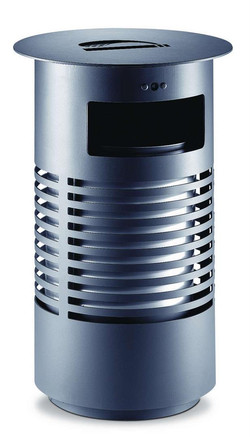 Sineu-Graff-Contemporary-Round-Aperture-in-TopEmpty-Via-Front-Steel-and-Stainless-Steel-Litter-Bin-1