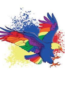 Rainbow Eagle Explosion