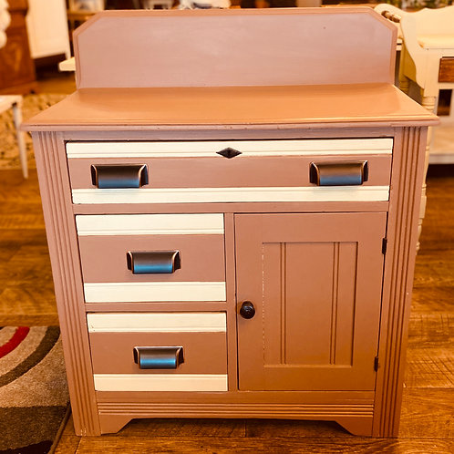 Solid Wood Commode with Back Splash (c102)