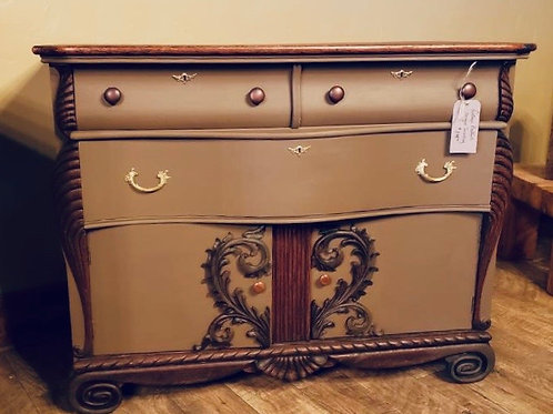 Ornate Crown-Molded Dresser/Chest with Drawers (m127)