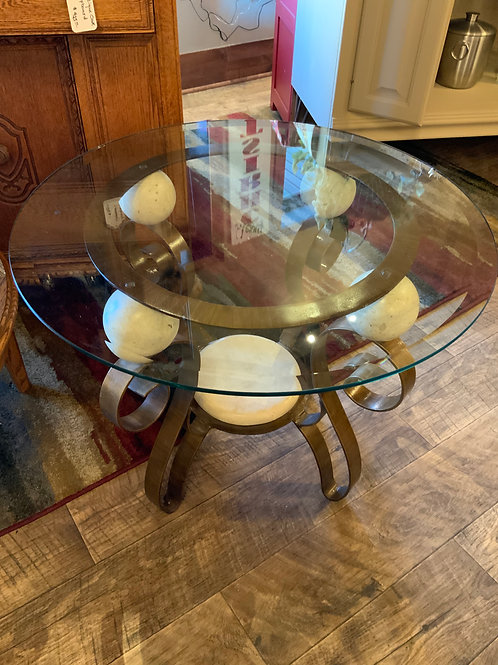 Beveled Glass Accent Table (T-121)