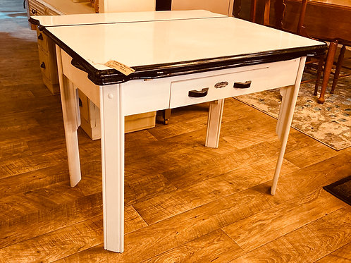 Antique porcelain table top with pull-outs (t110)