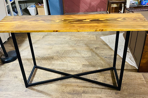 Wood/Metal Sofa Table (t113)