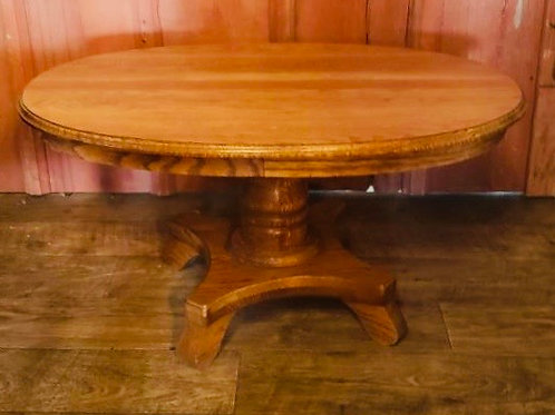 Solid Oak Oval Accent Table (t115)