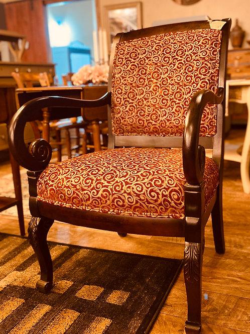Black/Burgundy High-Back Chair (ch102)
