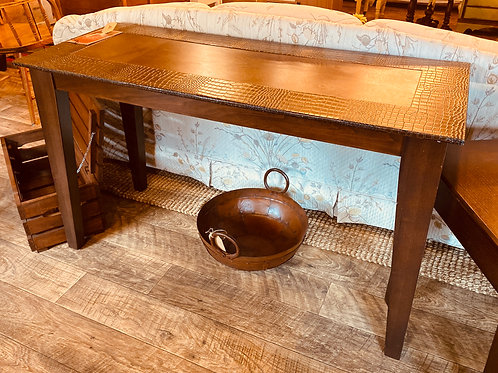 Sofa Table, leather top (t108)