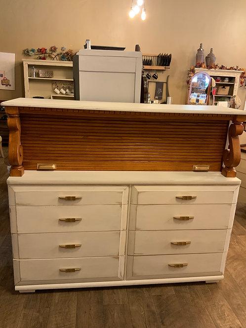 Mengel Furniture 8 Drawer Oak Sideboard w/rolltop  S-115